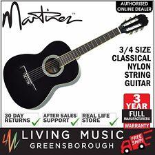 NEW Martinez Classical 3/4 Size Nylon String Guitar for Beginner (Black)