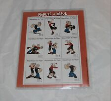 1998 Niger Popeye Stamps Sheet Of 9 with Olive Oyl International Collectors Soc