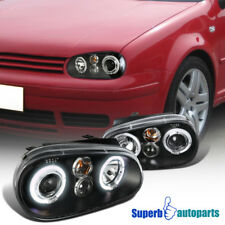 For 1999-2006 VW Golf GTI MK4 Halo Projector Clear Headlights Black SpecD Tuning