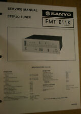 Sanyo Service Manual for a Model Fmt 611K Stereo Tuner January, 1978