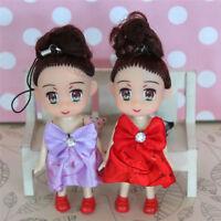 Mini Doll Key Chain Kids Plush Baby Dolls Keychain Soft Toys Keyring DecorEO
