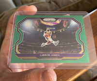 NBA Prizm 2020-21 LeBron James Green Parallel Kobe Bryant Tribute Dunk Card #1SP