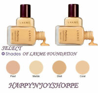 MARBLE | PEARL | SHELL | CORAL SHADE LAKME  LIQUID FOUNDATION PERFECTING 27 ML