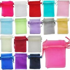 25/100pcs ORGANZA GIFT BAGS Wedding Decoration Party Favour Jewellery Packing