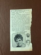 K1k Ephemera 1969 Article Marjorie Hayward Alexis At Alexe Germaine Monteil