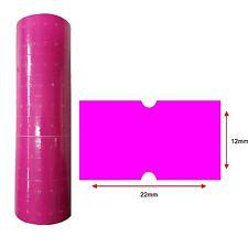 Pink Price Labels 22x12mm 10k Pcs 10 Rolls Hole Price Gun Lynx CT1 Puma Motex