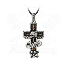 Alchemy of England Mercy Cross Skull Pendant Mourning Jewelry