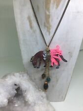 Party Animals Unique Dancing Horse Dressed Up For The Ball Pendant & Necklace