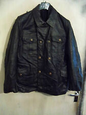 VINTAGE GERMAN LEATHER POLICE OFFICERS JACKET SIZE 48 PEA COAT