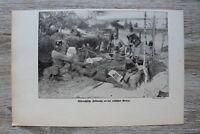Blatt 1914-25 Ostpreussen Feldwache a Russischer Grenze Tschako Soldaten 1.WK WW