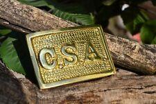 Civil War CSA Confederate States of America Rectangle Belt Buckle - Replica