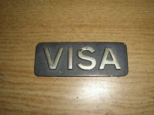 Emblem / Badge Citroen Visa aus Metall, ca. 90 x 30 mm