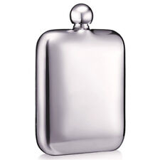 Hip Flask 6oz with Funnel Stainless Steel Square Camping Outdoor Flagon Wine Pot