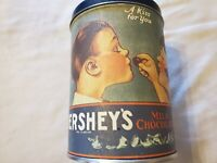 Vintage Reproduction Hersheys Kiss Tin 1980 Hershey's Hometown Series Canister