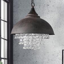 Luxury Loft Rustic Crystal Ceiling Light Chandelier Pendant Lamp Retro Design Us