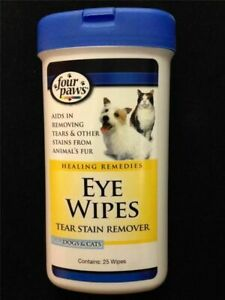 Four Paws Eye Wipes Tear Stain Remover for Dogs & Cats 25ct
