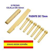 CEJILLA PUENTE Y PINES 42mm GUITARRA ROCK ACUSTICA ELECTRICA CUERDAS NUT MÚSICA