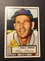 1952 Topps #196 Solly Hemus St. Louis Cardinals VG/VG+