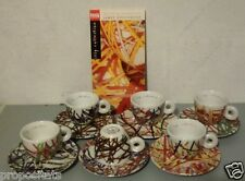 """GGT 06 ILLY COLLECTION JAMES ROSENQUIST CUPS"""" 1996 - 6 ESPRESSO CUPS"""