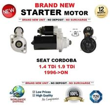 FOR SEAT CORDOBA 1.4 TDi 1.9 TDi 1996-ON STARTER MOTOR 2.0 kW 10 Teeth BRAND NEW