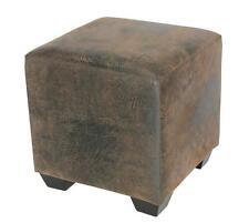 SixBros. Sitzhocker Sitzwürfel Hocker Wenge/Braun Antiklederlook 2001A/2087