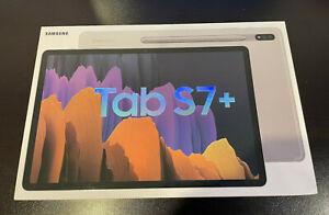 "Samsung Galaxy Tab S7+ Plus 128GB Wi-Fi 12.4"" Mystic Silver Android SPen SM-T970"