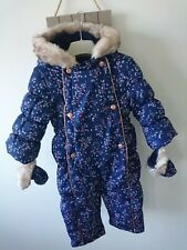 mothercare baby girl padded snowsuit 12-18 months great condition