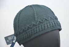 KANGOL crochet Crâne Casquette bonnet bleu à enfiler hommes chapeau XL 61cm neuf