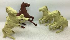 Toy Soldier 54mm Revolutionary Horses Lot of 4 Original cream Brown Saddled West