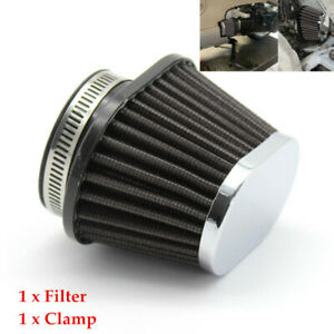 55mm Air Filter Motorcycle Carburetor Cleaner Elliptical Intake Tube Universal