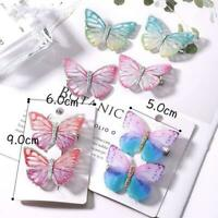 2Pcs/Pack Colorful Butterfly Hair Clips Sweet Hair Hot Ornament Hairpins T8H1