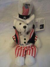 "Uncle Sam Postal Stamp Bear Beanie 11"" Teddy Bear US Postal Service 2003"