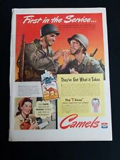 Vintage 1940s Camel Cigarettes WW2 Rosie the Riveter like Magazine Advertisment