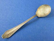 """1914 Vintage Antique ~ RARE ~ Rogers & Bro 5 3/8"""" Garland Silver Ice Cream Spoon"""