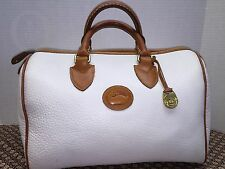 Vintage*Doone & Bourke*R38 WHITE Speedy Satchel/Handbag/Cross Body  #16252W