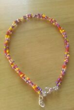 multi coloured twisted bead anklet/ankle bracelet summer beach funky