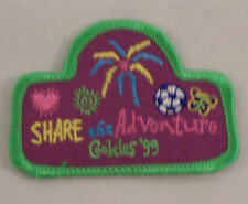 Girl Scout Patch Gs Share The Adventure Cookies 1999 Uniform Patch  #Gsgr