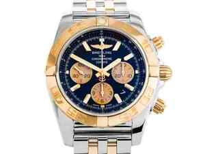 Breitling Chronomat Steel & Gold Automatic 44mm. Black Dial With Papers 2015