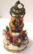Christmas lighted Snowman Musical Lighthouse Figurine Vguc Beach