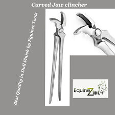 Hoof Curved Jaw Clincher,Farrier Tool Hoof Nail Clincher Vanadium Steel Plier
