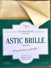 Chamoisine ASTIC-BRILLE 30x20 cm or & argent Fabriquée en France