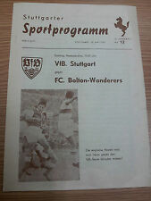 1960 Friendly Match-Stoccarda V Bolton Wanderers