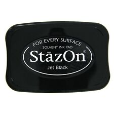 TSUKINEKO STAZON INK PAD SOLVENT BASED FOR RUBBER STAMPS STAMPING ANY SURFACE