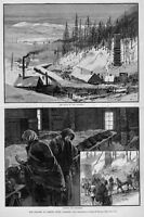 CRESTED BUTTE, COLORADO COAL AND IRON MINE DISASTER SCENE, VICTIMS AND MOURNERS