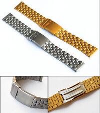In acciaio inox Orologi Bracciale in IPG-Oro Placcate 18mm NUOVO