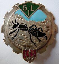 Insigne TRAIN de 1939 WWII GIL  Drago Béranger ORIGINAL fourmi