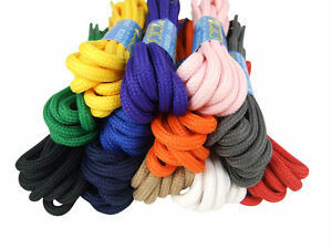 ROUND STRONG SHOELACES BOOTLACES - 6 LENGTHS - 7 COLOURS - FREE 1st CLASS P&P!