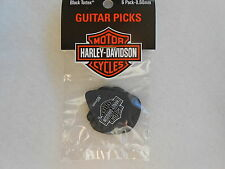 6 x Harley Davidson Dunlop Black Tortex Guitar Picks Plectrum 0.60mm Gauge