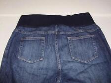 Liz Lange Maternity Blue Jeans Size 10 Full Belly Panel Spandex 29 Inseam A14