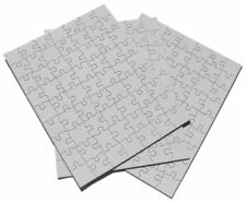 NEW Inovart Puzzle It Blank Puzzles 63 Piece 8 1 2 x 11  12 Per Package